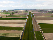 Nederland, Noord-Holland, Gemeente Anna Paulowna, 16-04-2012; Noordwesterdijk. Anna Paulownapolder, rechts de Wieringerwaard. Amstelmeer aan de horizon..Polder in Noord-Holland, former bottom of the sea...luchtfoto (toeslag), aerial photo (additional fee required);.copyright foto/photo Siebe Swart