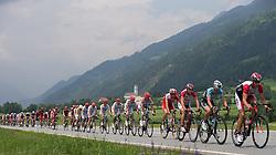 03.07.2012, Osttirol, AUT, 64. Oesterreich Rundfahrt, 3. Etappe, Kitzbuehel - Lienz, im Bild das Feld der Verfolger bei Ainet // the peleton during the 64rd Tour of Austria, Stage 3, from Kitzbuehel to Lienz, Lienz, Austria on 2012/07/03. EXPA Pictures © 2012, PhotoCredit: EXPA/ Johann Groder