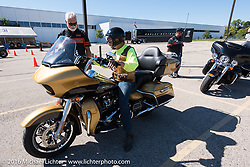 Test rides of the new Harley-Davidson Milwaukee-8 engine at the Pilgrim Road plant during the Milwaukee Rally. Milwaukee, WI, USA. Friday, September 2, 2016. Photography ©2016 Michael Lichter.