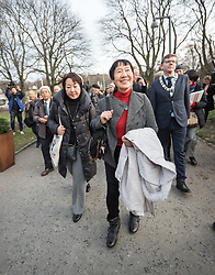 """9 December 2017, Oslo, Norway: Some 22 """"Hibakusha"""", survivors from the atomic bombings in Hiroshima and Nagasaki, joined Norwegian representatives the mayor of Oslo, principal of Oslo University, and the head of the Oslo Museum of National History for an event themed """"Seeds for Peace"""" in the Oslo Botanical Garden. As a token of hope, together they planted seeds, as part of the Nobel Peace Prize celebrations in Oslo on 9-10 December. Oslo hosts the Nobel Peace Prize award ceremony on 9-10 December 2017. The prize in 2017 goes to the International Campaign to Abolish Nuclear Weapons (ICAN), for """"its work to draw attention to the catastrophic humanitarian consequences of any use of nuclear weapons and for its ground-breaking efforts to achieve a treaty-based prohibition of such weapons"""". Yoshiko Tanaka survived the bombing of Hiroshima, as the only one among her friends at school. Scars running deep, it's only for a few years that she has spoken publicly about her experience. """"When I was a first-grader in elementary school, I was 2.3 kilometers from the hypocenter of the Hiroshima blast, in an area called Ushita, where I was burned and exposed to radiation. Amidst the destruction, as people wandered and cried out in pain, when the unchanged blue sky showed itself, in my child's mind, for some reason, a hope sprung forth that 'there will be a tomorrow.' We citizens of Hiroshima recovered and have overcome many challenges since then,"""" wrote Tanaka in an open letter in The Mainichi in May 2016."""