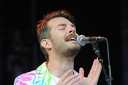 © Licensed to London News Pictures. 31/05/2015<br /> Rod Thomas (Bright Light Bright Light) on stage before Elton John comes on stage tonight (31.05.2015)at the Kent County Show Ground Detling,Kent.<br /> <br />  <br /> (Byline:Grant Falvey/LNP)
