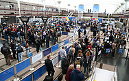 Passengers move into security lines at Denver International Airport outside Denver, Colorado U.S. November 3, 2017.  REUTERS/Rick Wilking