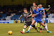 Bristol Rovers defender Tom Lockyer(4) and Gillingham FC midfielder Lee Martin (11)  during the EFL Sky Bet League 1 match between Gillingham and Bristol Rovers at the MEMS Priestfield Stadium, Gillingham, England on 16 December 2017. Photo by Martin Cole.