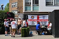Football - 2021 EUFA European Championships - Finals - Group D - England vs Croatia, Wembley Stadium<br /> <br /> Fans gathering on Wembley Way before the game.<br /> <br /> COLORSPORT/ASHLEY WESTERN