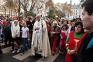 Buenos Aires Archbishop, Jorge Mario Bergoglio walks in a procession in Buenos Aires, Argentina on May 28, 2005. In 2013 he was elected as the 266th pontiff for the Roman Catholic Church. He will take the name Pope Francis. (photo by Joe Gosen)