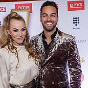 NLD/Amsterdam/20181217 - Hashtag Awards 2018, Rachel Kramer en partner Deon Leon
