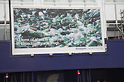 Glass recycling poster, Broadgate, City of London, England