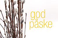 Påskehilsen «god påske» sammen med «gåsunger».