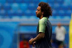 June 21, 2018 - Saint Petersburg, Russia - Marcelo of Brazil national team attends a Brazil national team training session during the FIFA World Cup 2018 on June 21, 2018 at Saint Petersburg Stadium in Saint Petersburg, Russia. (Credit Image: © Mike Kireev/NurPhoto via ZUMA Press)