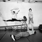 Benedicte Bütler und Clemens Lüthold mit Kind und Kegel: Kuno's Circustheater. © Romano P. Riedo