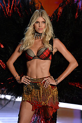 Devon Windsor on the catwalk for the Victoria's Secret Fashion Show at the Mercedes-Benz Arena in Shanghai, China
