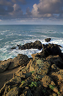 Morning clouds over Pacific Ocean at Stillwater Cove Regional Park, Sonoma Coast, California