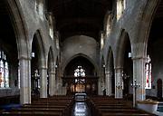 Inside village parish church of Saint Andrew, Mells, Somerset, England, UK