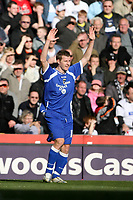 Photo: Pete Lorence.<br />Derby County v Cardiff City. Coca Cola Championship. 17/03/2007.<br />Cardiff's Paul Parry celebrates equalising.