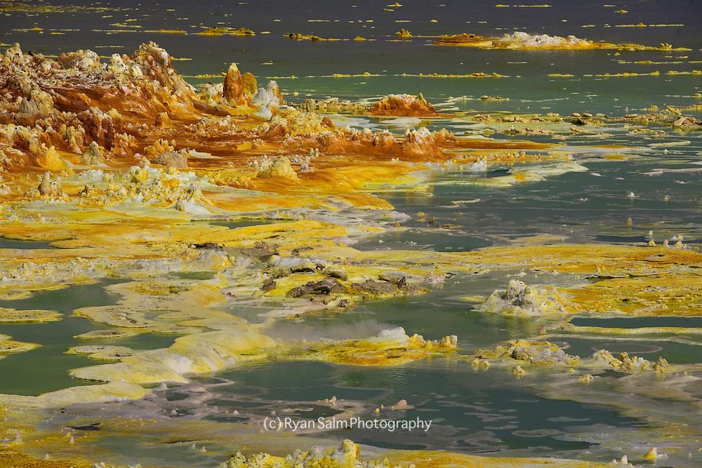 Sulfer pools in Dallol