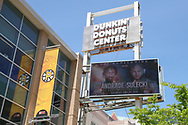 May 22, 2019; Providence, RI; Atmosphere shots outside the Dunkin Donuts Center in Providence, RI prior to the start of the press Conference announcing the June 29, 2019 fight between WBO middleweight champion Demetrius Andrade and challenger Maciej Sulecki.  Mandatory Credit: Ed Mulholland/Matchroom Boxing USA