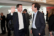JEREMY HUNT; RALPH RUGOFF, Opening of Love is what you want. Exhibition of work by Tracey Emin. Hayward Gallery. Southbank Centre. London. 16 May 2011. <br /> <br />  , -DO NOT ARCHIVE-© Copyright Photograph by Dafydd Jones. 248 Clapham Rd. London SW9 0PZ. Tel 0207 820 0771. www.dafjones.com.