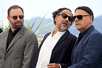 Directors Yorgos Lanthimos, Alejandro Gonzalez Inarritu, and Enki Bilal at the Jury photo call at the 72nd Cannes Film Festival, Tuesday 14th May 2019, Cannes, France. Photo credit: Doreen Kennedy