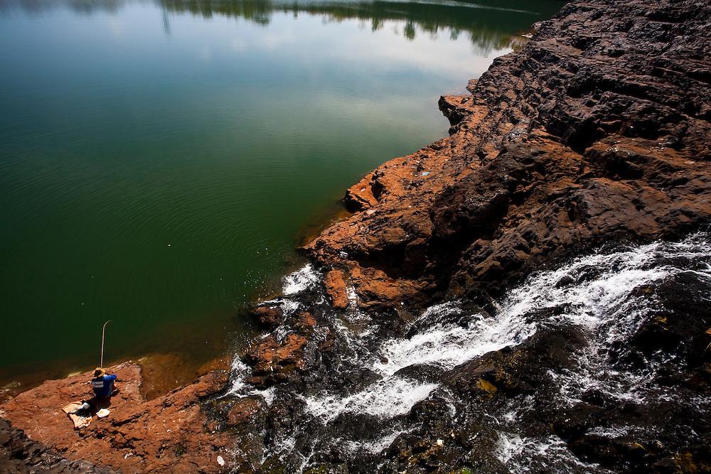 Cachoeira Dourada_MG, Brasil...Rio Paranaiba, Represa de Cachoeira Dourada...The Paranaiba river, the Cachoeira Dourada dam...Foto: LEO DRUMOND / NITRO