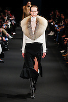Maartje Verhoef (WOMEN) walks the runway wearing Altuzarra Fall 2015 during Mercedes-Benz Fashion Week in New York on February 14, 2015