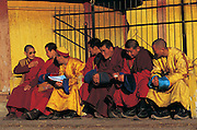 Monks<br /> Tashichoiling Monastery<br /> Ulaanbaatar<br /> Mongolia