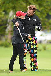 Zara Tindall and Paul Doran-Jones during the ISPS Handa Celebrity Golf Classic at The Belfry in Sutton Coldfield.