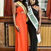 Miss Uganda UK 2019 Caitlin Ochana and Miss Teen Nigeria UK 2019 - Anna-Marie Uzokwe attend the Mr & Miss Congo 2020,on 29th Febryary 2020 at Old Townhall,Stratford, London, UK.