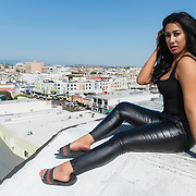 Rooftop shoot with LA model, Sierra Hernandez. Images made at FD Photo Studios Rooftop on April 13, 2018 in Downtown Los Angeles, California.  ©Michael Der, All Rights Reserved.  Please contact Michael Der for all licensing requests.