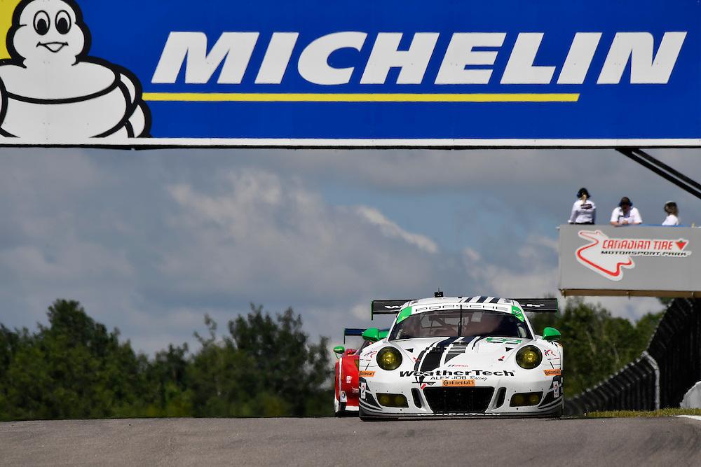 7-10 July 2016, Bowmanville, Ontario Canada<br /> 22, Porsche, 991 GT3 R, GTD, Cooper MacNeil, Leh Keen<br /> ©2016, Scott R LePage <br /> LAT Photo USA