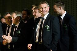 Tomaz Kavcic, Milan Miklavic, Matjaz Kek at official presentation of Slovenian National Football team for World Cup 2010 South Africa, on May 21, 2010 in Congress Center Brdo at Kranj, Slovenia. (Photo by Vid Ponikvar / Sportida)