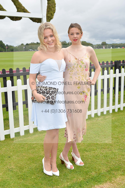 Left to right, POPPY JAMIE and GRETA BELLAMACINA at the Cartier Queen's Cup Final polo held at Guards Polo Club, Smith's Lawn, Windsor Great Park, Egham, Surrey on 15th June 2014.