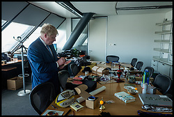 Image ©Licensed to i-Images Picture Agency. 03/05/2016. London, United Kingdom. Boris Johnson gives his farewell speech. The London Mayor Boris Johnson gives his farewell speech to staff at City Hall before he steps down on Thursday evening. Picture by Andrew Parsons / i-Images