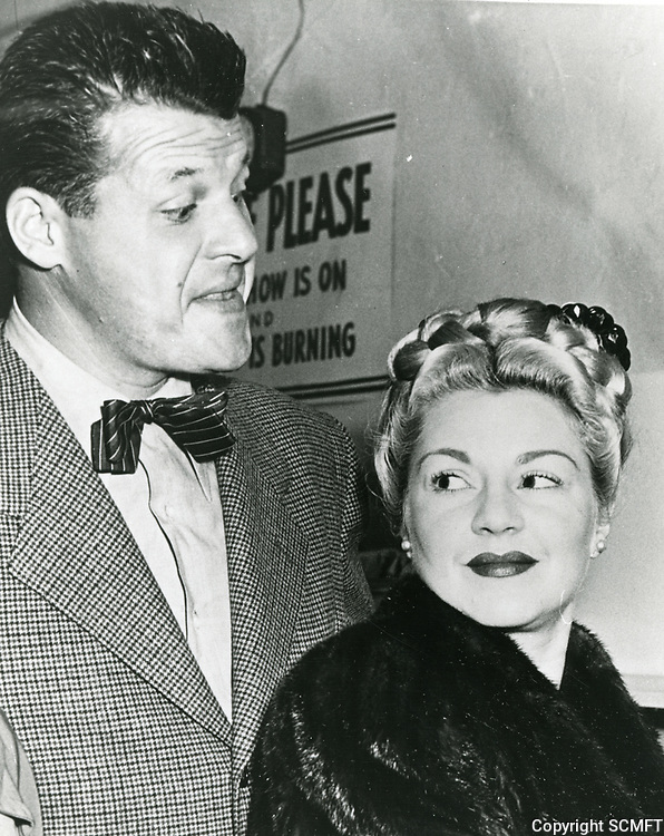 1944 Jack Carson and Claire Trevor at the Hollywood Canteen