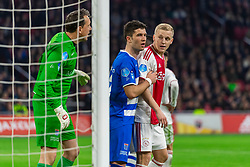 13-03-2019 NED: Ajax - PEC Zwolle, Amsterdam<br /> Ajax has booked an oppressive victory over PEC Zwolle without entertaining the public 2-1 / (L-R)Diederik Boer #1 of PEC Zwolle, Pelle Clement #22 of PEC Zwolle, Donny van de Beek #6 of Ajax