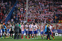 Atletico de Madrid´s players cheers and celebrate after 2014-15 La Liga match between Atletico de Madrid and Cordoba at Vicente Calderon stadium in Madrid, Spain. November 01, 2014. (ALTERPHOTOS/Victor Blanco)