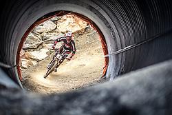 14.06.2014, Bike Park, Leogang, AUT, UCI, Mountainbike Weltcup, Leogang, Downhill, Herren, im Bild Neko Mulally (USA) // during Mens Downhill of UCI Mountainbike Worldcup at the Bikepark, Leogang, Austria on 2014/06/14. EXPA Pictures © 2014, PhotoCredit: EXPA/ JFK