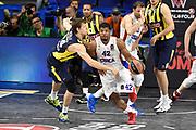 DESCRIZIONE : Madrid Eurolega Euroleague 2014-15 Final Four 3rd 4th place finale 3 4 posto Fenerbahce Ulker Istanbul Cska Moscow Cska Mosca<br /> GIOCATORE : Kyle Hines<br /> SQUADRA : CSKA Mosca<br /> CATEGORIA : palleggio sequenza<br /> EVENTO : Eurolega 2014-2015<br /> GARA : Fenerbahce Ulker Istanbul Cska Mosca<br /> DATA : 17/05/2015<br /> SPORT : Pallacanestro<br /> AUTORE : Agenzia Ciamillo-Castoria/GiulioCiamillo<br /> Galleria : Eurolega 2014-2015<br /> DESCRIZIONE : Madrid Eurolega Euroleague 2014-15 Final Four 3rd 4th place finale 3 4 posto Fenerbahce Ulker Istanbul Cska Moscow Cska Mosca