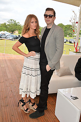 PROF.GREEN and MILLIE MACKINTOSH at the Audi Polo Challenge at Coworth Park, Blacknest Road, Ascot, Berkshire on 31st May 2015.