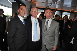 Left to right, CHRISTIAN CANDY, his father TONY CANDY and NICK CANDY at the launch of One Hyde Park, The Residences at Mandarin Oriental, Knightsbridge, London on 19th January 2011.