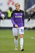 Stoke City midfielder Lasse Sorensen (33) during the The FA Cup 3rd round match between Shrewsbury Town and Stoke City at Greenhous Meadow, Shrewsbury, England on 5 January 2019.