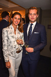Charlie Mills and Francesca Fitzherbert at the third annual Fortnum's x Frank exhibition at Fortnum & Mason, 181 Piccadilly, London, UK on September 12, 2018.<br /> 12 September 2018.