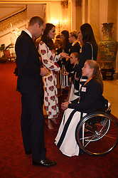 October 18, 2016 - London, United Kingdom - UK OUT Image licensed to i-Images Picture Agency. 18/10/2016. London, United Kingdom. The Duke and Duchess of Cambridge at a reception for Team GB and ParalympicsGB medallists from the 2016 Olympic and Paralympic Games at Buckingham Palace in London. Picture by ROTA / i-Images  UK OUT (Credit Image: © Rota/i-Images via ZUMA Wire)