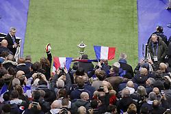November 11, 2017 - Saint Denis, Ile de France, France - Illustration du trophee avec drapeaux et supporters (Credit Image: © Panoramic via ZUMA Press)