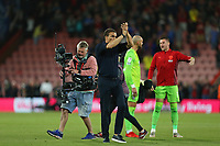 Football - 2021 / 2022 EFL Sky Bet Championship -AFC Bournemouth vs. West Bromwich Albion - The Vitality Stadium<br /> <br /> West Bromwich Albion Head Coach Valerien Ismael applauds the traveling West Bromwich Albion fans after the final whistle at the Vitality Stadium (Dean Court) Bournemouth <br /> <br /> COLORSPORT/Shaun Boggust