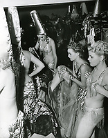 1947 Dancers getting dressed for the show at the Earl Carroll Theater