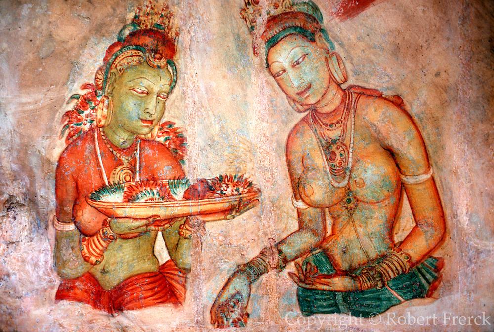 SRI LANKA, ANCIENT CULTURE Sigiriva, Court portraits from 4th century