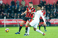 Football - 2016 / 2017 Premier League - Swansea City vs. AFC Bournemouth<br /> <br /> Andrew Surman tackled by Leroy Fer of Swansea---, at the Liberty Stadium.<br /> <br /> COLORSPORT/WINSTON BYNORTH