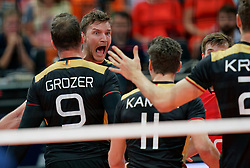 21-09-2019 NED: EC Volleyball 2019 Netherlands - Germany, Apeldoorn<br /> 1/8 final EC Volleyball - Germany win 3-1 and goed to quarter final against Poland / /ne