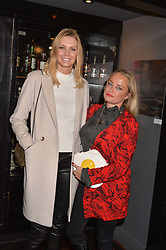 Left to right, Malin Jefferies and Erica Bergsmeds at an exhibition of photographs by Erica Bergsmeds held at The Den, 100 Wardour Street, London England. 19 January 2017.