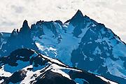 Mount Shuksan (9127 feet elevation) in North Cascades National Park, seen from Hannegan Peak in Mount Baker Wilderness, North Cascades, Washington, USA